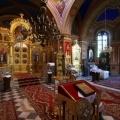 Cerkiew prawosławna pw.  Wszystkich Świętych dekorowane wnętrze