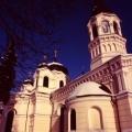 Cerkiew prawosławna pw.  Wszystkich Świętych budynek - zimą