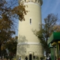 wieża w całości i drzewa